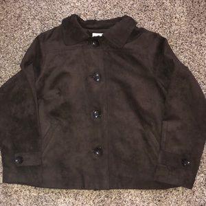 🌺🌼Women's suede feel jacket, EUC chocolate brown